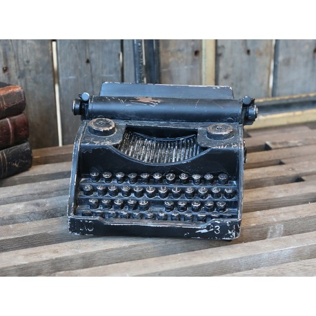 Machine à écrire vintage décorative noire antique