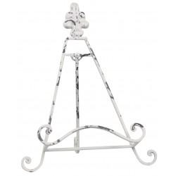 Lutrin en métal blanc antique