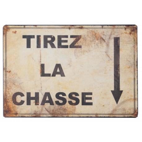 """Plaque décorative """"Tirez la chasse"""""""