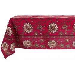 Nappe rouge Paisley 160 x 300 cm