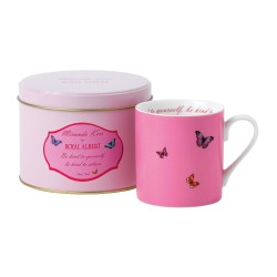 "Mug Miranda Kerr rose dans sa boite en métal assortie ""Be kind to yourself, Be kind to others"""