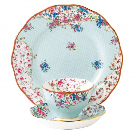 Candy Sitting Pretty 3 Pce Set Teacup, Saucer & Plate 20cm