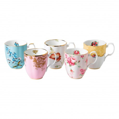 Coffret cadeau de 5 mugs collection 1950-1990