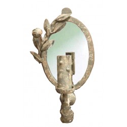 Paire d'appliques miroir coquetterie Lychen