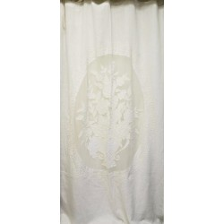 Long curtain Rideau Parfum white 130 x 300 cm