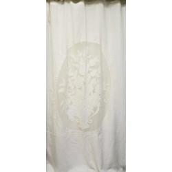 Long curtain Rideau Parfum white 130 x 300 cm