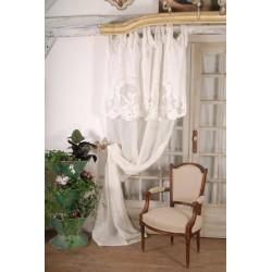 Long curtain Saint Paterne Voile Ivoire 130 x 300 cm