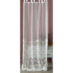 Rideau Ballade blanc à pattes 150 x 290 + 10 cm