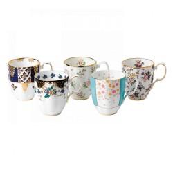 Coffret cadeau de 5 pièces Mugs 100 ans de thé collection 1900 -1940