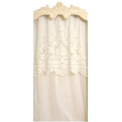Long curtain Reine ivory 130 x 300 with her valance
