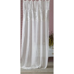White embroidered curtain 140 x 290 Demetra collection