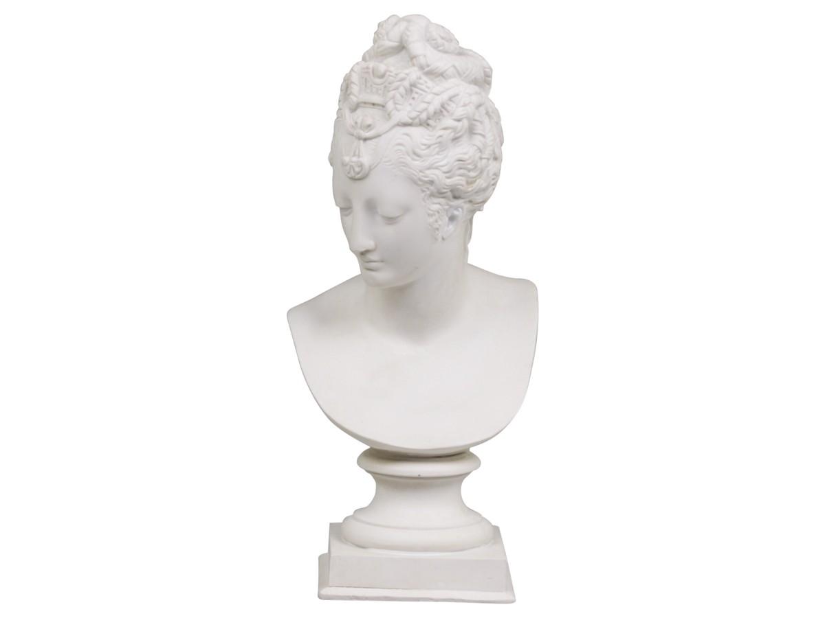 Buste Sur Pied Decoratif buste marquise blanc antique par chic antique pour une déco shabby chic et  romantique dans un esprit campagne cosy et vintage.
