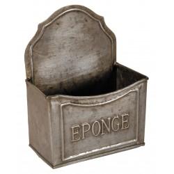 Porte éponge zinc à fixer ou à poser
