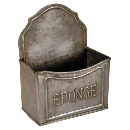 Porte éponge zinc