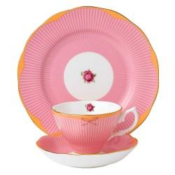 """Service 3 pièces """"Sweet Stripe Collection"""" avec tasse, sous tasse et assiette"""