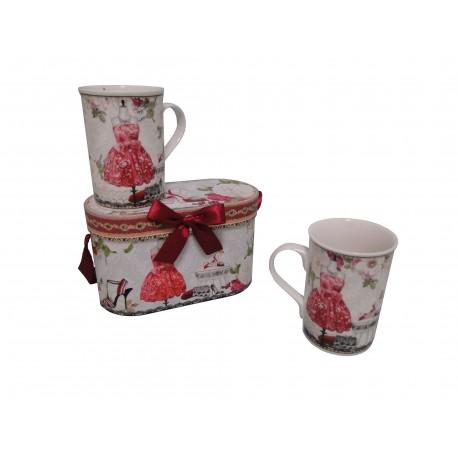 Coffret de 2 mugs décor mannequin