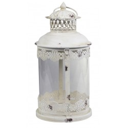 Lanterne décorative blanc antique