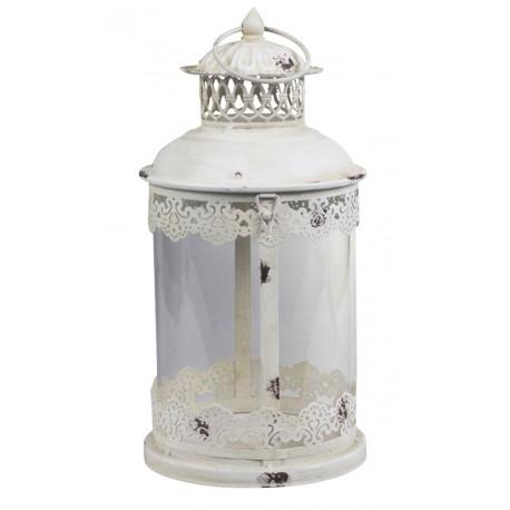 Lanterne décorative blanc antique