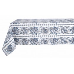 Nappe imprimée Denim Collection 140 x 180 en coton