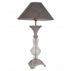 Pied de lampe Murano en verre et métal
