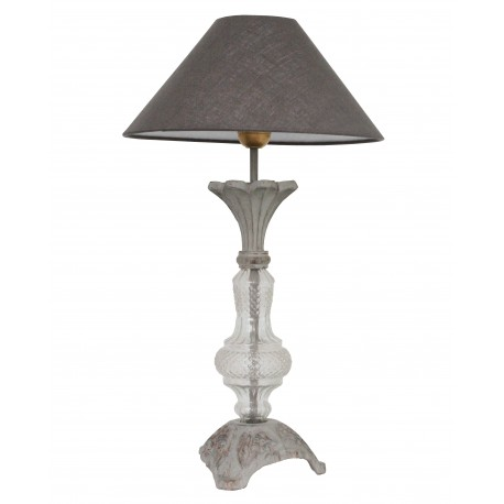 Murano Lamp Base In Glass And Metal By Coquecigrues For A Shabby