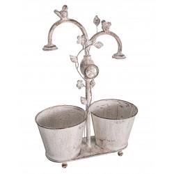 Pot double oiseaux