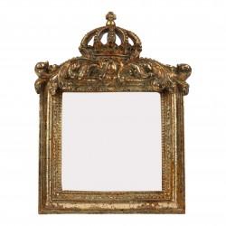 Cadre photo doré à couronne à poser