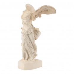Angel statue Samothrace Victory creamy white