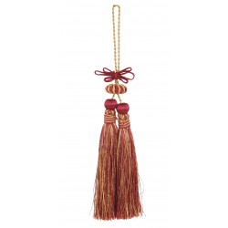 Double tassel in black and gold