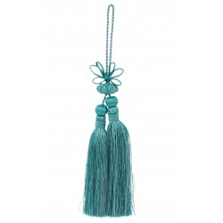 Double tassel in sea blue