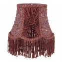 Burgundy lampshade embroidered with pearls