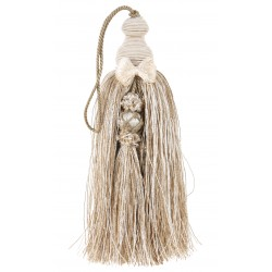 Beige mix tassel with node
