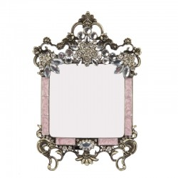 Photo frame with pearls and cream colored email