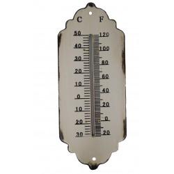 Thermomètre en métal couleur crème
