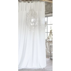 Curtain ecru Rosaline 140 x 290 cm with nodes