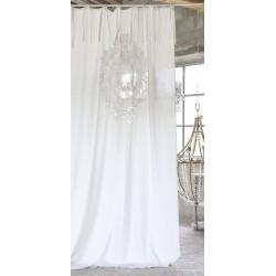 Rideau Rosaline ecru 140 x 290 cm a nouettes