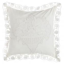 Cushion embroider Buttercup ecru 45 x 45 cm
