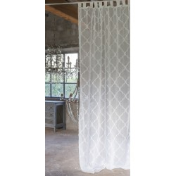 Curtain with loops White Honey 140 x 290 cm