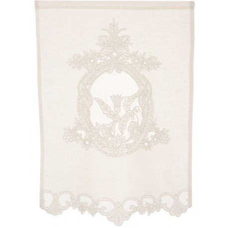 Kitchen curtain Saint Paterne ivory 40 x 70 cm