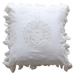 Pillowcase Falbala white 60 x 60 cm
