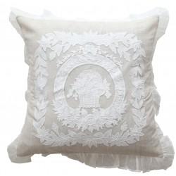Taie d'oreiller nouveau porcelaine naturel 60 x 60 cm