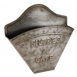 Porte filtres à café couleur zinc
