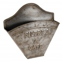 Zinc-colored coffee filter holder