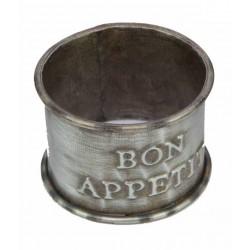 "Zinc Napkin Ring ""Bon appétit"""