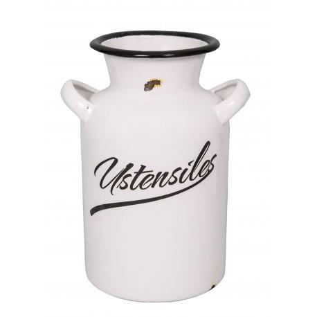 "Milk jar ""Ustensiles"" enamelled white"