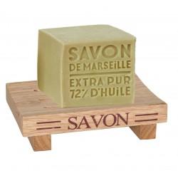 Porte-savon carré en bois