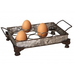 Egg holder on feet for 12 eggs