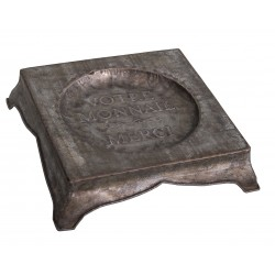 "Small decorative zinc tray ""Rendu de monnaie"""
