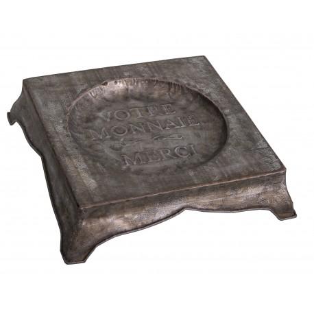 "Small decorative zinc tray ""Rendu de monnaie"""