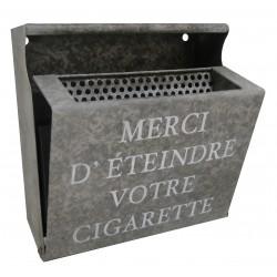 """Cendrier mural """"Merci d'éteindre votre cigarette"""""""